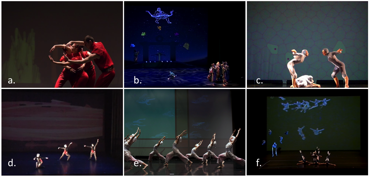 pictures of the different dance production pieces